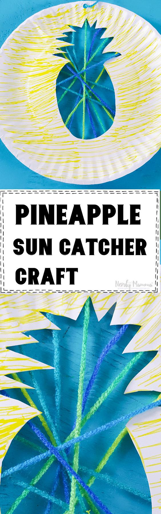 Pineapple Sun Catcher Craft