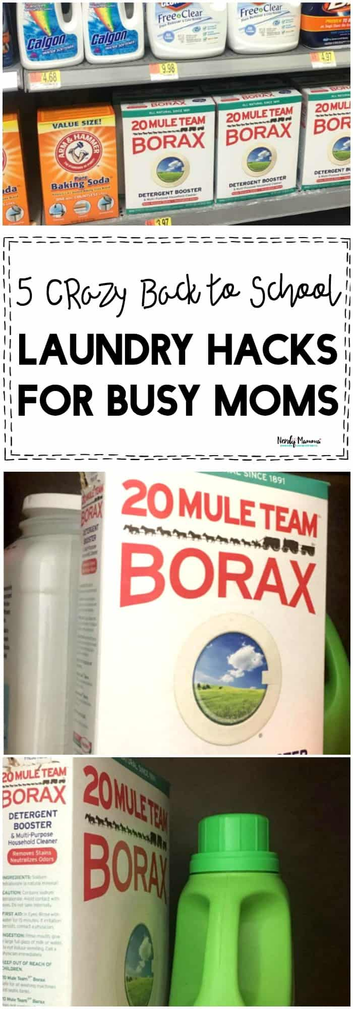 OMG You've GOT to check out these 5 crazy back to school laundry hacks for busy moms!