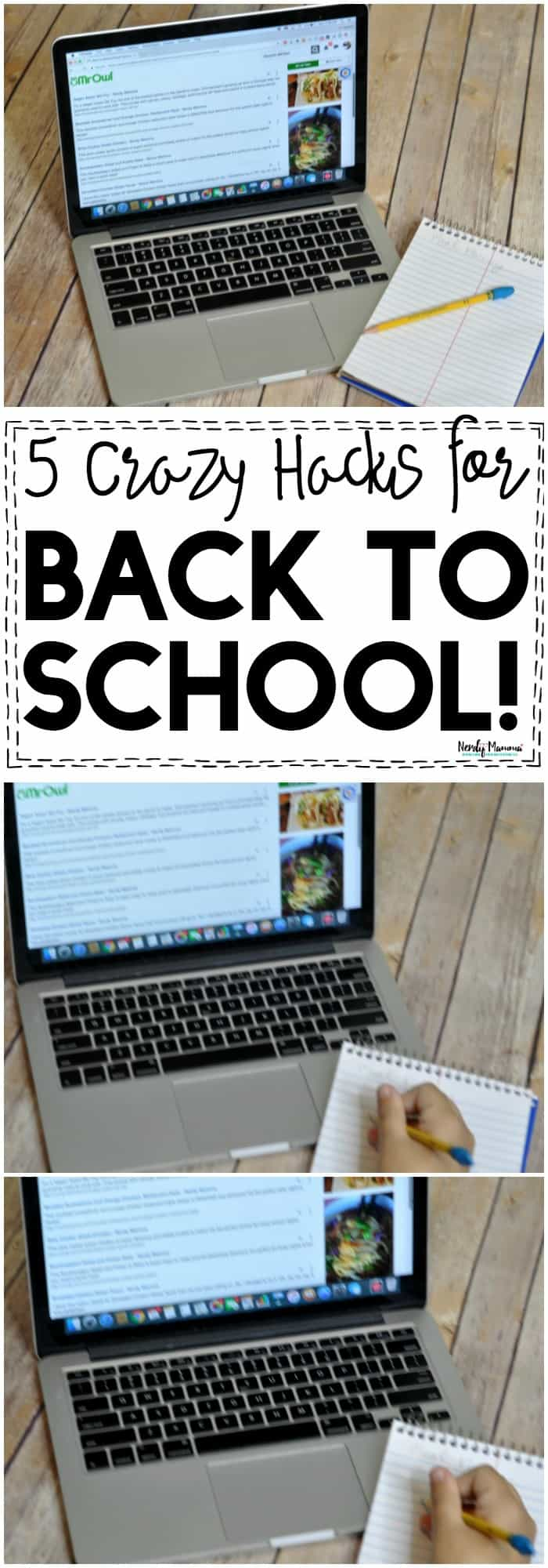 OMG, these 5 crazy back to school hacks are a MUST-READ for busy moms!