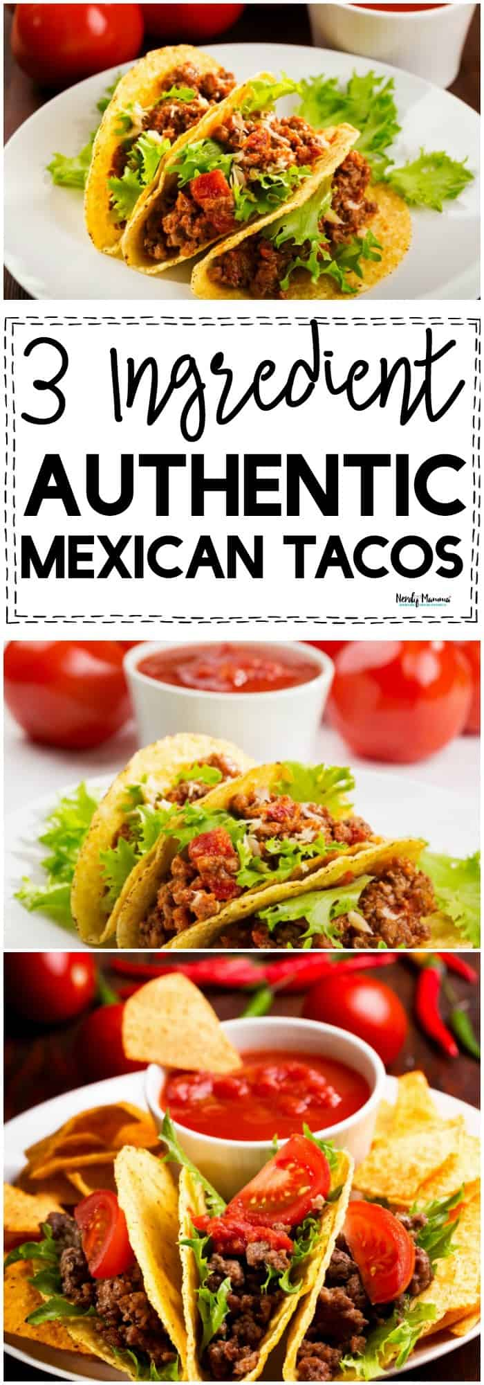OMG these 3 ingredient authentic Mexican tacos are AMAZEBALLS! So delicious and simple to make!!