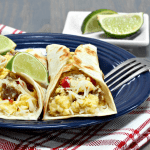 This is the single easiest breakfast taco recipe. It only has 3-ingredients! #breakfasttaco #breakfast #taco #tacos #simplerecipe #simplebreakfastrecipe #easybreakfastrecipe