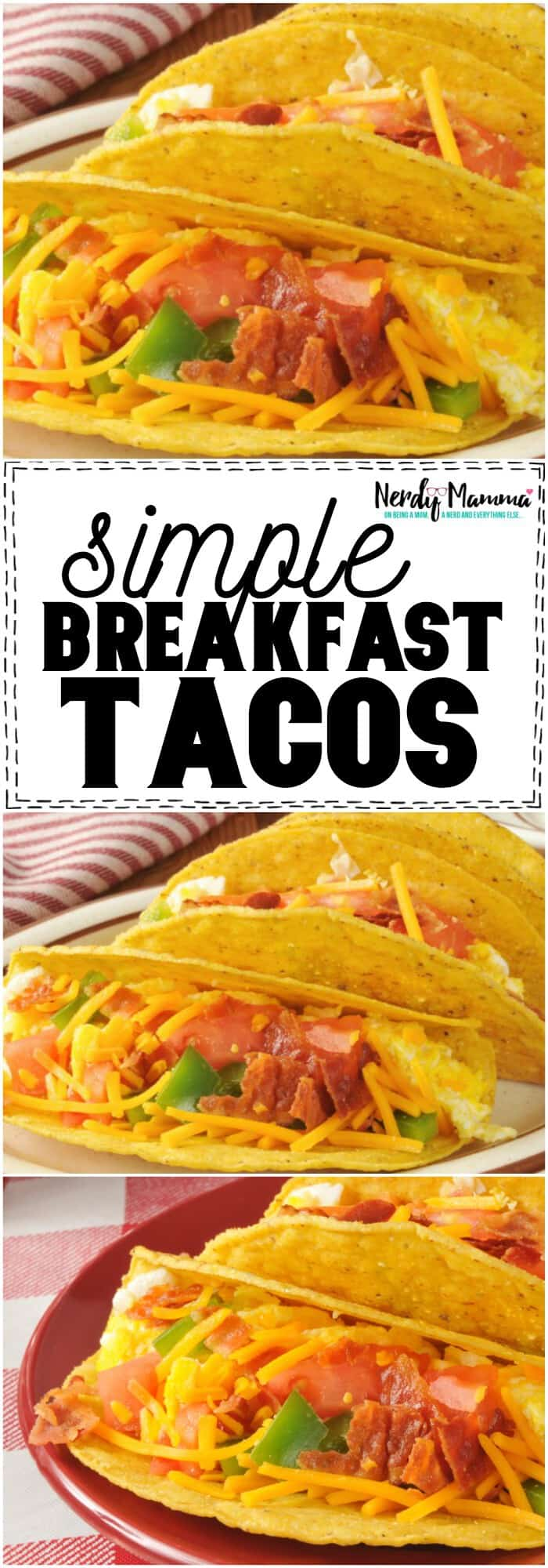 OMG. These simple breakfast tacos are AMAZING. My picky kiddos even eat them, and who doesn't love tacos for BREAKFAST? #yum #tacos #tacotuesday #tacoeveryday #breakfast #breakfastrecipe