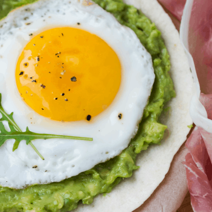 Fried Egg and Avocado Breakfast Tacos
