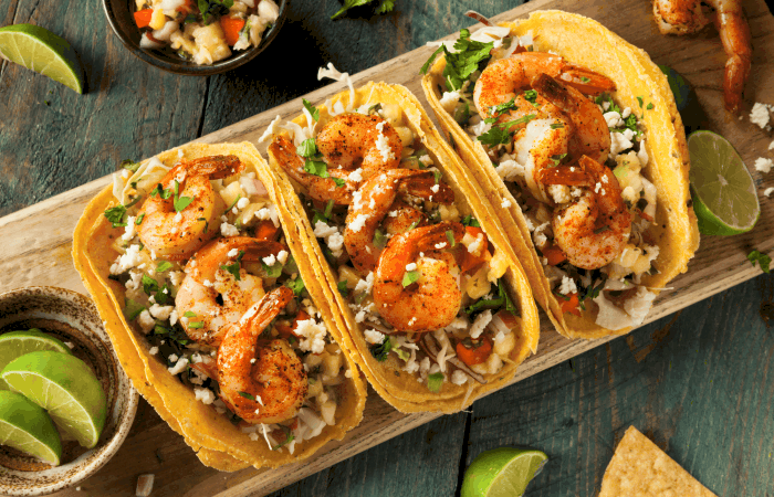 I. LOVE. These Spicy Shrimp Tacos. They're so good. #shrimp #shrimprecipe #taco #tacotuesday #tacos #tacorecipe #shrimptaco #shrimptacorecipe