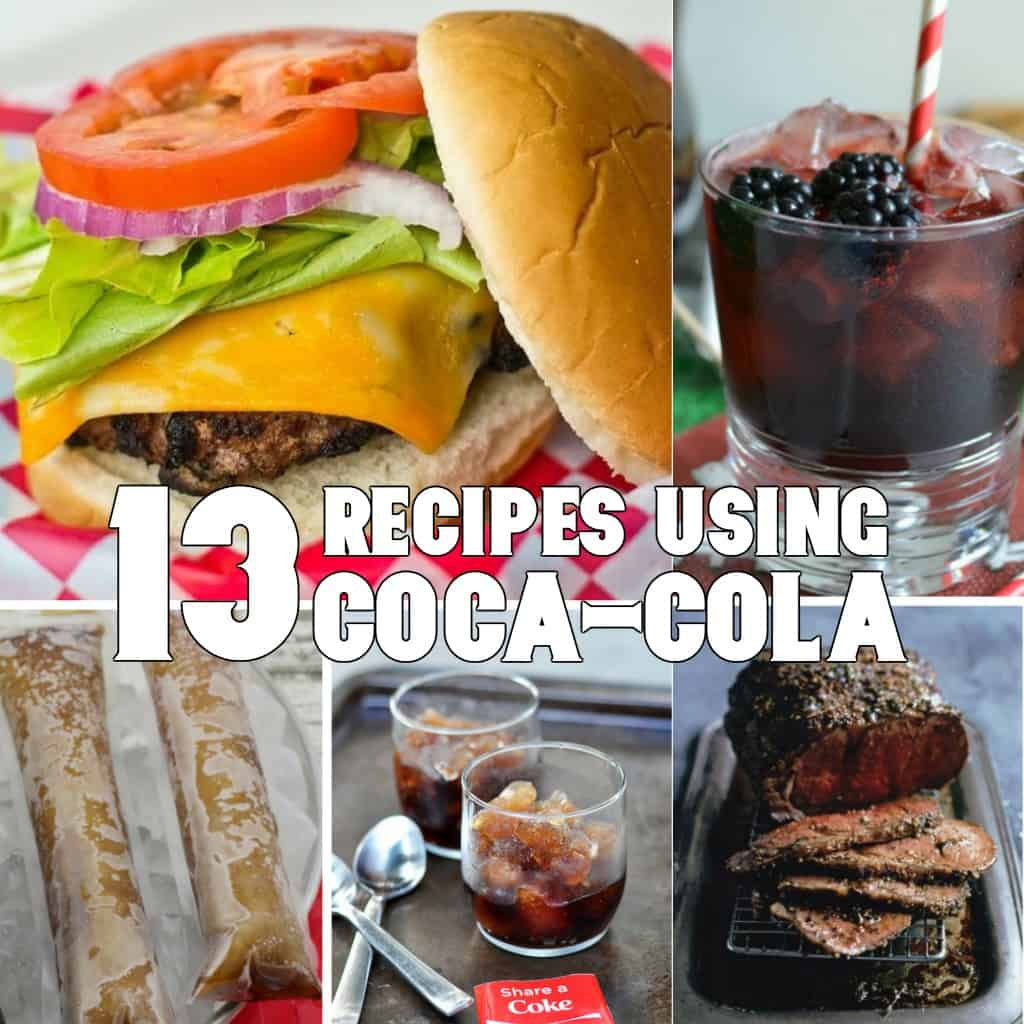 Oh, I can't wait to feast on the delights of these 13 Recipes using Coca Cola #coke #cocacola #recipe #recipes #food #tasty