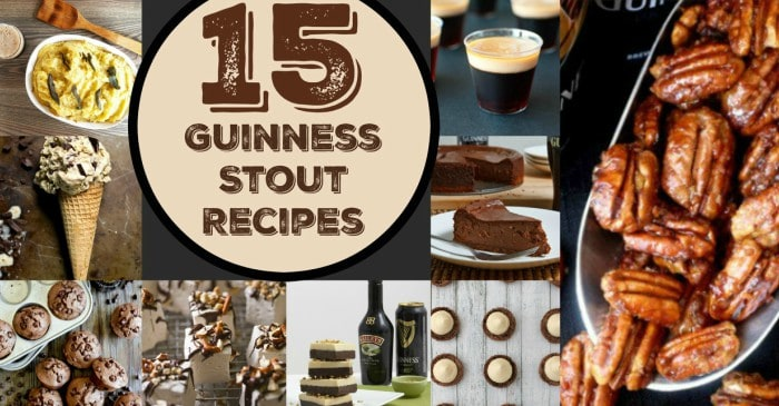These recipes using Guinness Stout will be so much for for St. Patrick's! #guinness #stpatrick #irish #recipe #recipes