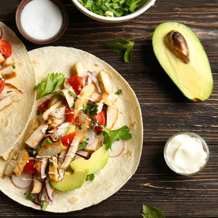 This is the simplest tequila-infused chicken taco recipe. I love it! #taco #recipe #chickentaco #easy #tequila #tequilataco #yummy #meal #tasty #food