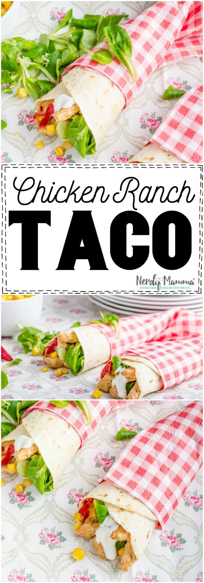 I love how simple and yet flavor-packed these Chicken Ranch Tacos are! #mexican #mexicanfood #mexicanrecipe #taco #tacorecipe #ranch #chicken #chickentaco #yummy