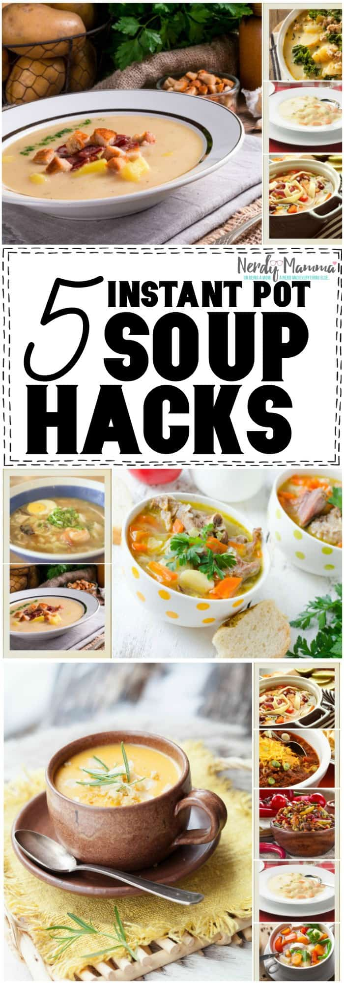 I love these simple Instant Pot Soup Hacks! Ridiculously easy to understand and DO! #hacks #instantpot #pressurecooker #soup #howto