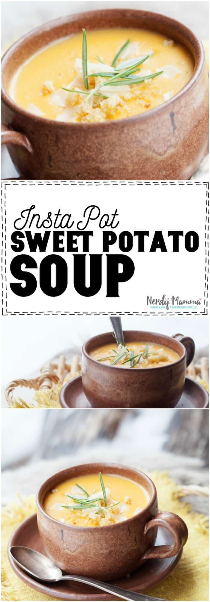 OMG! I never thought to make Instant Pot Sweet Potato Soup. So genius! #instantpot #pressurecooker #potatosoup #soup #slowcooker #instantpotsoup #instantpotrecipe #recipe #yummy