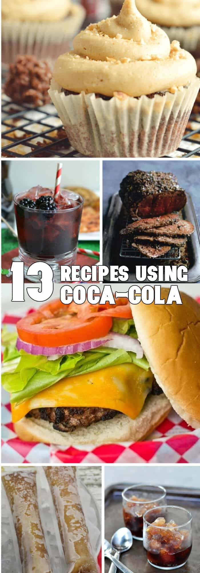 Oh, I can't wait to feast on the delights of these 13 Recipes using Coca Cola! #coke #cocacola #recipe #recipes #food #tasty