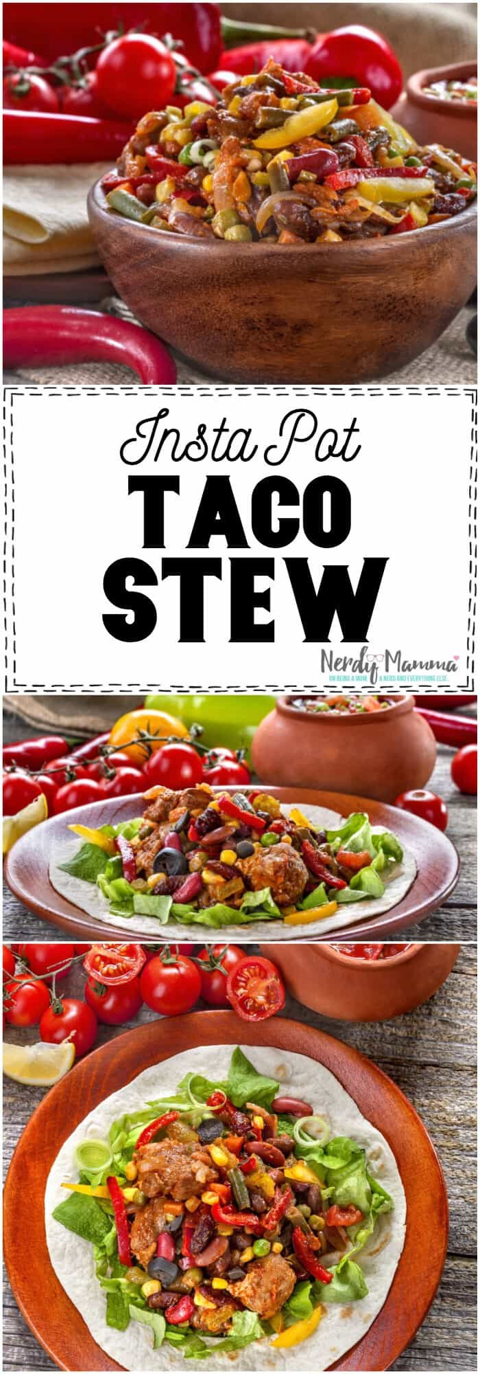 Oh, this Instant Pot taco stew sounds so easy to make and so yummy! #recipe #tasty #soup #stew #taco #mexican #instantpot #pressurecooker #slowcooker #instantpotrecipe #instantpotmexican #instantpottaco