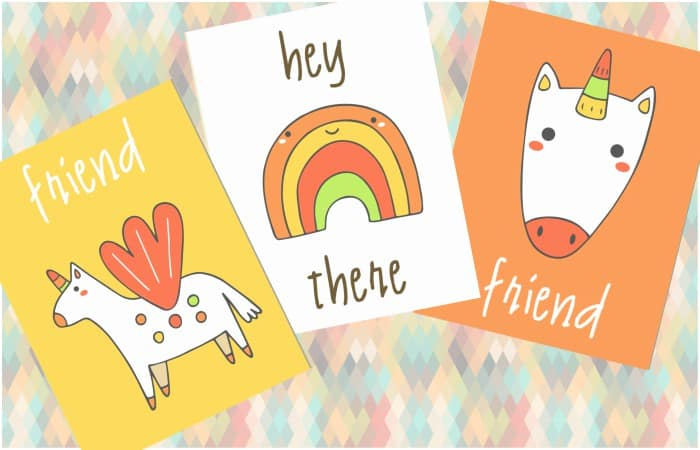 Super ridiculously cute Free Printable Unicorn Wall Art for the funtastic girl's bedroom or bathroom or whatever. Just print it and put it on the wall--anywhere. #unicorn #free #freeprintable #printable #cute