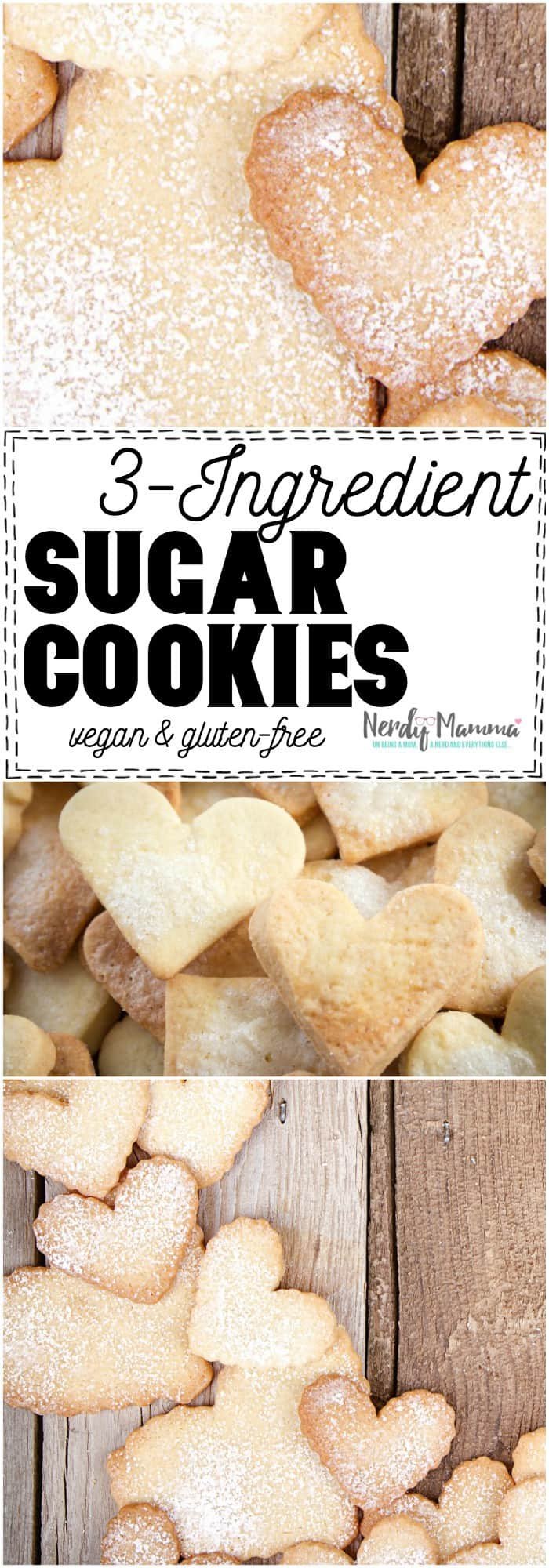 These super-simple Sugar Cookies are INSANE. I had no idea you could make such simple cookies. #cookie #cookies #recipe #sugarcookies #3-ingredient #simperecipe #easyrecipe #yummy