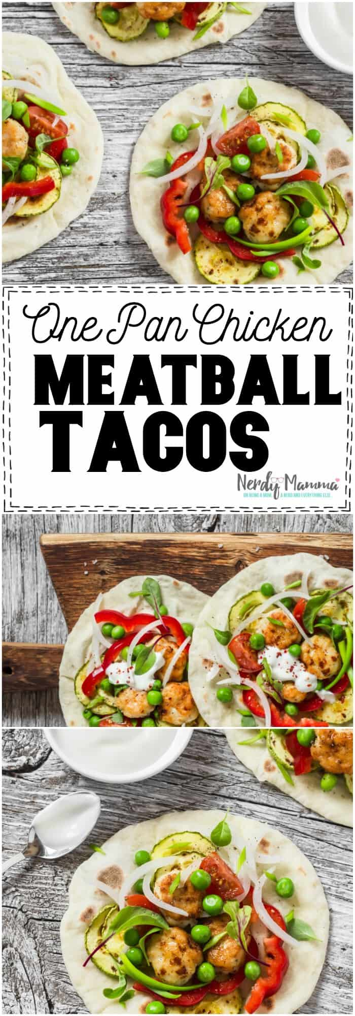 Whoa. I never thought to make Chicken Meatball Tacos. Sounds AWESOME. #chicken #taco #chickentaco #chickenmeatball #meatball #uniquerecipe #easyrecipe #recipe Tasty
