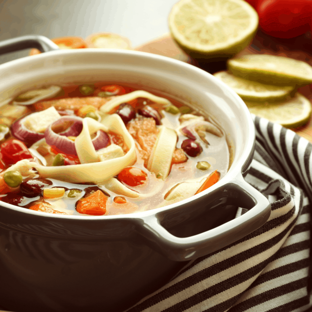 This Instant Pot Chicken Tortilla Soup is easily one of my favorite recipes. EVER. #soup #mexican #chickentortilla #chickentortillasoup #recipe #mexicanrecipe #tasty