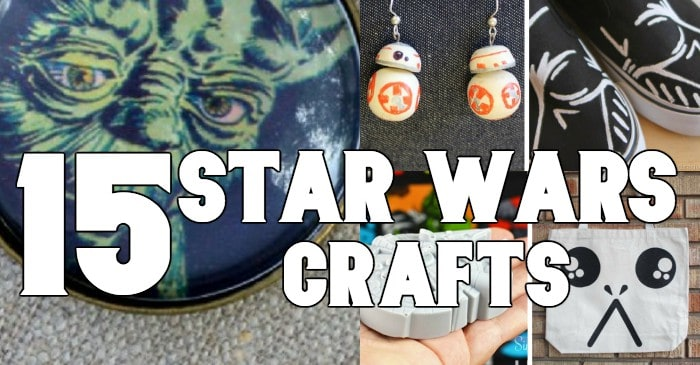 An insane amount of fun awaits you, padawan, with these 25 Star Wars Crafts you need in your life. No, really, my youngling friend, this is hours of fun to show how deep your love of the Galaxy Far Far Away truly is... #nerdymammablog #starwars #starwarscrafts #crafts #solo #jedi #yoda #craft #darkside #vader