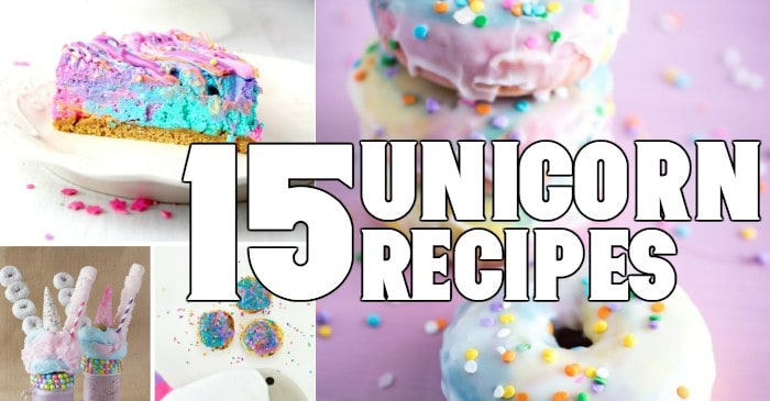 OMG! These 15 Unicorn Recipes are TO DIE FOR. I can't wait to try them all. #unicorn #recipe #fun #spring #summer #party #unicornrecipe #roundup