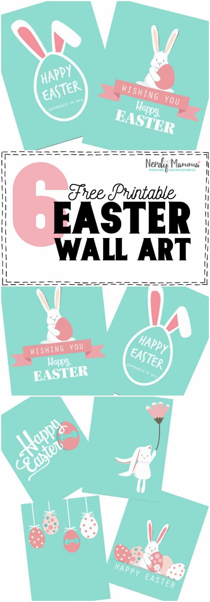 free printable easter wall art poster
