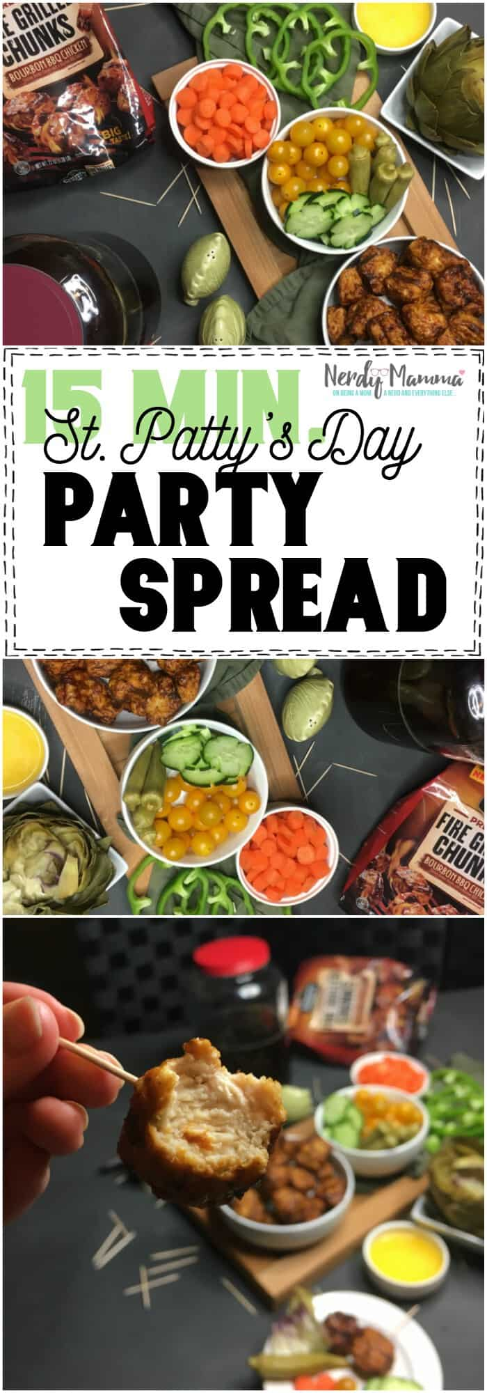 st. patty's day party spread