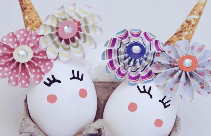unicorn easter egg decoration