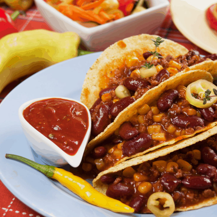 Wow. I never thought to make Instant Pot Chili Con Carne Tacos. So simple, yet so awesome! #recipe #taco #texmex #mexican #chiliconcarne #chili #yum
