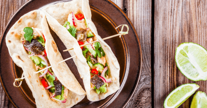 Oh, this recipe for Cedar Plank Salmon Tacos sounds so easy. I can't wait to try it! #recipe #salmon #grill #grilling #recipe #taco #mexican #texmex