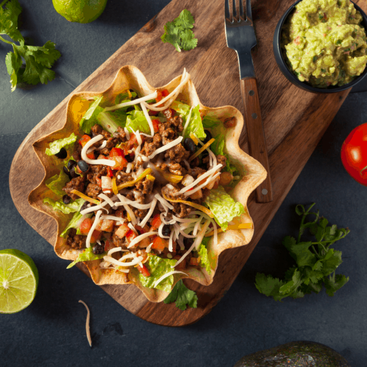 Wow. This is the taco salad of my dreams. Simple, easy and delicious. I can't wait! #taco #tacosalad #texmex #mexican #tasty #recipe #yum