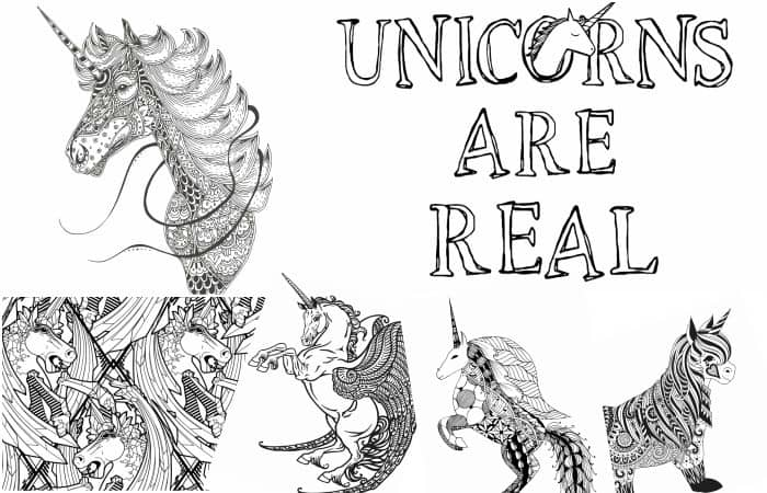 Rainbow Unicorn Coloring Pages Printable | 450x700