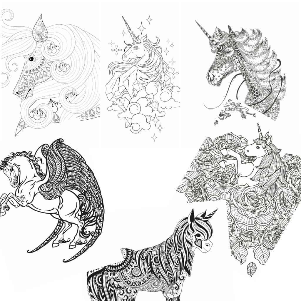 - 11 Free Printable Unicorn Coloring Pages For Adults - Nerdy Mamma