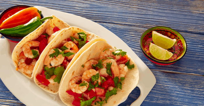 Oh, I had no idea you could cook shrimp with lime juice! This recipe for ceviche tacos is amazing! #taco #texmex #mexican #tasty #recipe #food #foodporn #shirmp #shrimptaco #ceviche