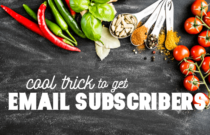 A Cool Trick for Bloggers to Get Email Subscribers