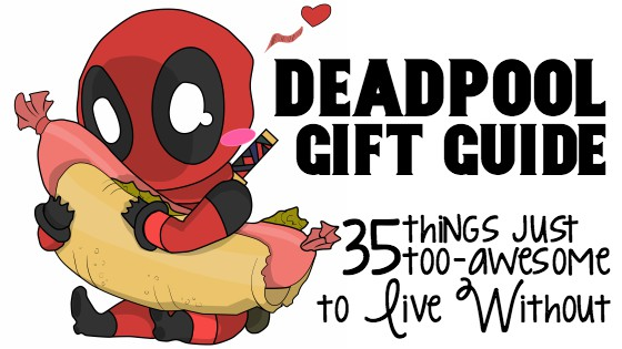 I kinda love Deadpool a little. Ok. A lot. So, if you're wondering what to get me this year, just grab one of these 35 Deadpool Gifts. It's The Ultimate Deadpool Gift Guide, after all. It's crazy matches your crazy. #nerdymammablog #giftguide #deadpool #deadpoolgiftguide #nerdygiftguide #nerdygifts #nerdygift #nerdgift #fandomgift #fandom #fandomgiftguide #nerdgifts #nerdygiftguide #deadpoolfandom #deadpoolgifts #marvelgiftguide #xmengiftguide