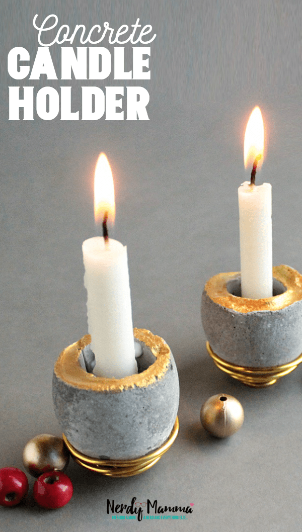 I have a reputation to maintain for the most fun Mother's Day gifts. This year, it's DIY Concrete Candle Holders. Don't tell my mom, though--she's totally going to be surprised when I give her these for Mother's Day. #nerdymammablog #mothersday #mothersdaygift #diy #concrete #egg #easydiy #concretediy #diyconcrete #homediy #diyhome #cutediy