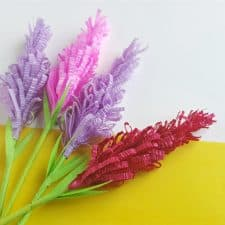 DIY Paper Lavender Flowers