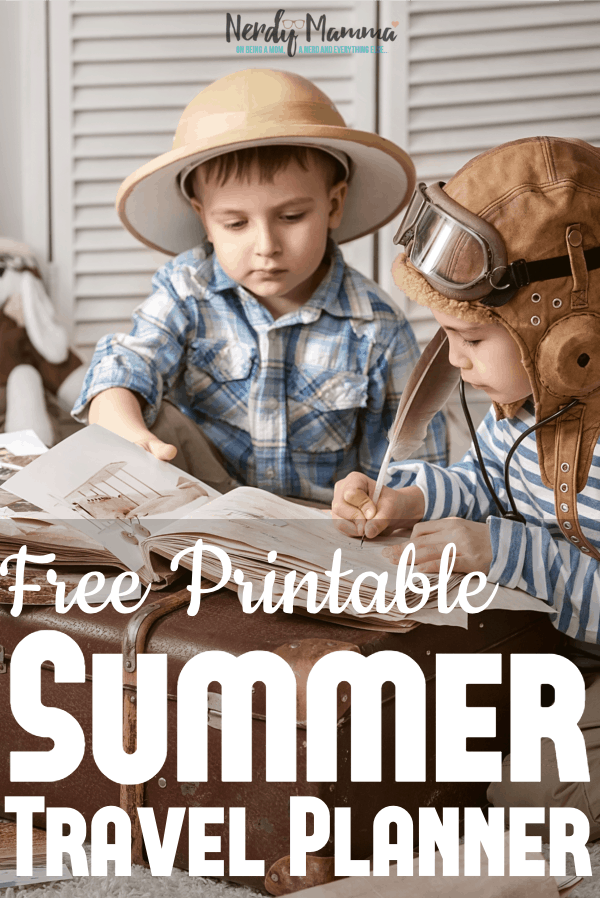 For real, be it a summer roadtrip or a fun week away at granny's I just can't tell you how much I look forward to a summer trip. What I don't look forward to is the disorganization. So I fixed that this year with my Free Printable Summer Travel Planner. #nerdymammablog #freeprintable #travelplanner #freeprintabletravelplanner #summertravel #summer #summerroadtrip #roadtrip #familyfun