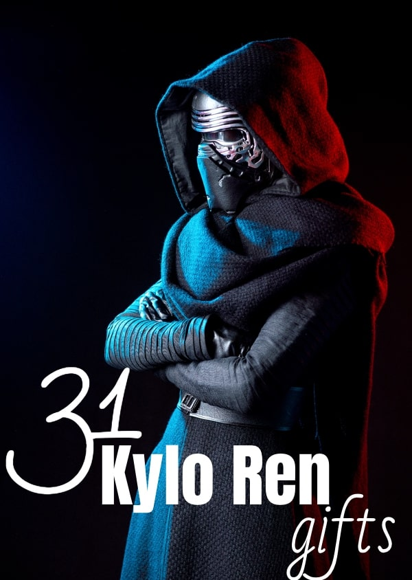 Hottest jerk this side of the galaxy, if you have a Ben Solo lover in the family, these 31 Kylo Ren Gifts will surely hit the spot...You know, if they need a little Swolo-fix... #nerdymammablog #bensolo #kyloren #starwars #giftguide #starwarsgiftguide #kylorengiftguide