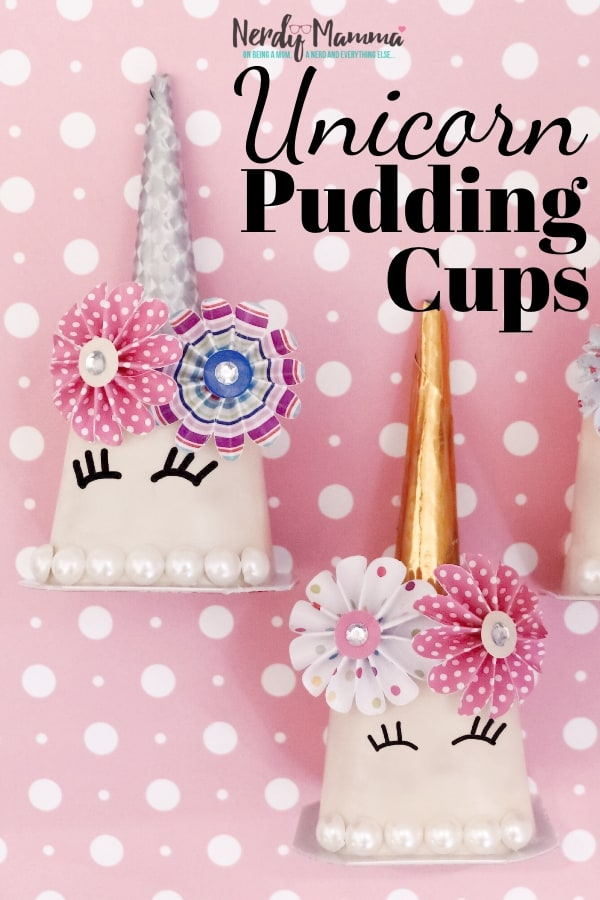 Cheap supplies? Check. Tasty results? Check. A unicorn your kid can call their own? Priceless. Ok. Really, it's like $5. But still, that smile. These Unicorn Pudding Cups are astoundingly simple, fun to put together and cheap. What's not to love?! #nerdymammablog #unicorn #craft #unicorncraft #simplecraft #lunchbox #lunchboxcraft #puddingcup #pudding