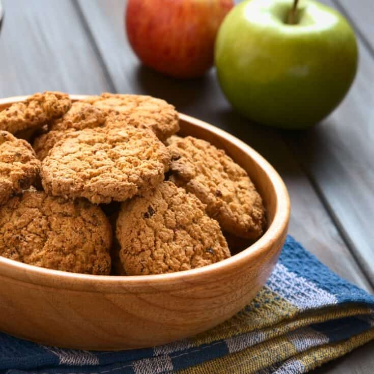 Apple Pie Oatmeal Cookies
