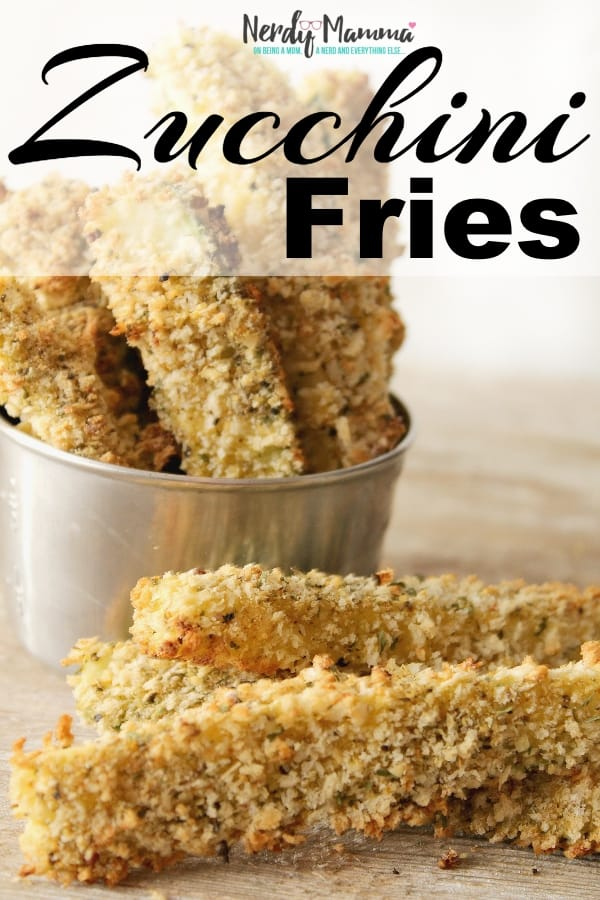 I love fried zucchini. But it's not always the simplest or healthiest. But these Zucchini Fries?! Freaking tasty and wonderful and so much healthier. I can't wait to make them again. #nerdymammablog #zucchini #fries #frenchfries