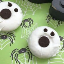 Ghost Donuts (Mini Donut Ghosts…whatever)