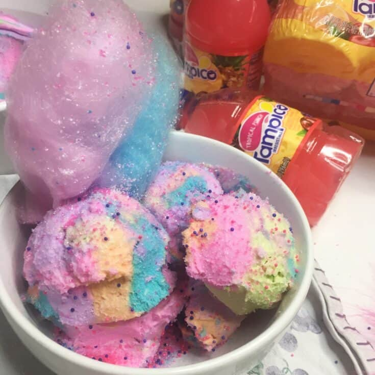 Vegan No-Churn Trolls Ice Cream with Tampico Tropical Punch