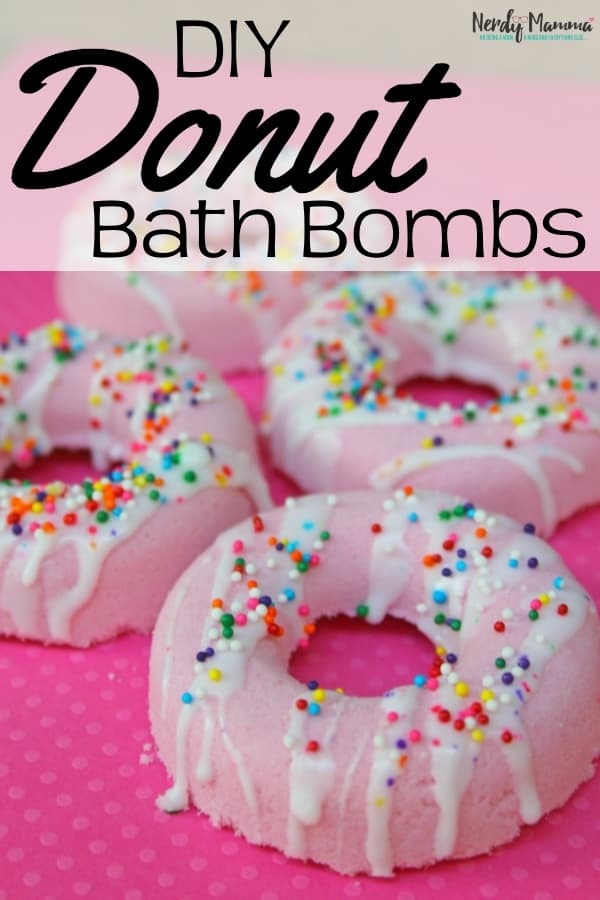 Look, I have fun. A lot of fun. And one of the ridiculous things I have fun doing is making bath bombs. My most recent make? Donut Bath Bombs. Cutest bath bombs EVER! I'm dying. #nerdymammablog #bathbomb #bath #recipe #DIY