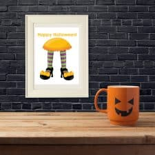Witch's Feet Halloween Wall Art