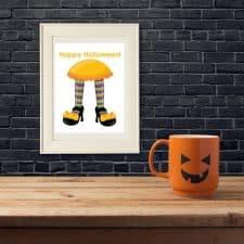 Witch's Feet Halloween Wall Art