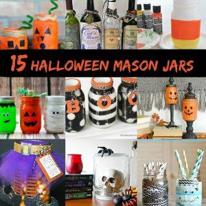 15 Halloween Mason Jar Crafts