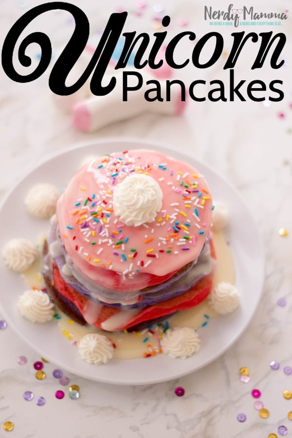 I love a cute and silly recipe. But one that tastes as cute and amazing as it looks? That, my friends, that is worth the ultimate name: Unicorn Pancakes. Dude, if you don't make these at least once in your life, you're crazy.