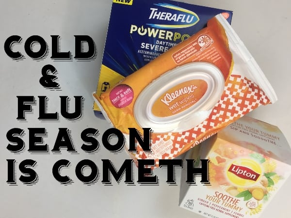 #ad Friends, we are on the verge of a full-on attack that comes every year. Well, I get sick every year, so I kind of assume you do too. If that's the case, we have to get our act together, and get ourselves prepared for cold & flu season this year. #nerdymammablog #FluSeasonHacks #CollectiveBias