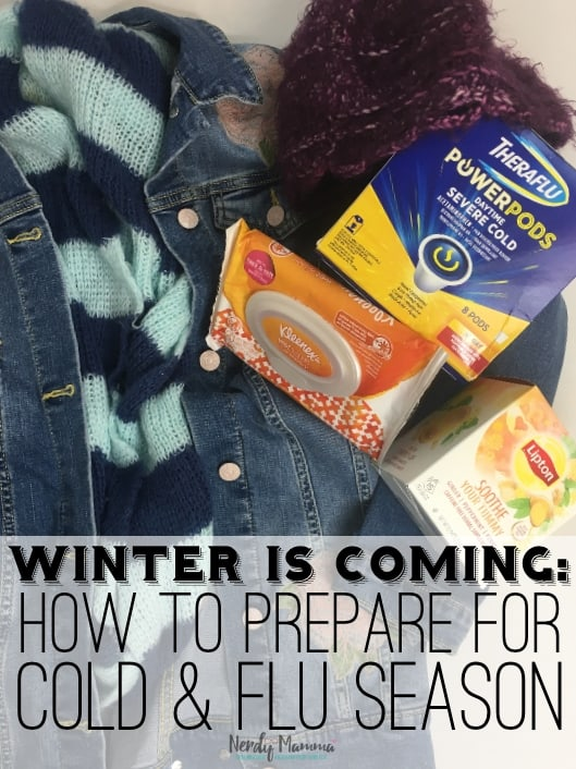 #ad Friends, we are on the verge of a full-on attack that comes every year. Well, I get sick every year, so I kind of assume you do too. If that's the case, we have to get our act together, and get ourselves prepared for cold & flu season this year with #Theraflu @lipton and #Kleenex from @KrogerCo. #nerdymammablog #FluSeasonHacks