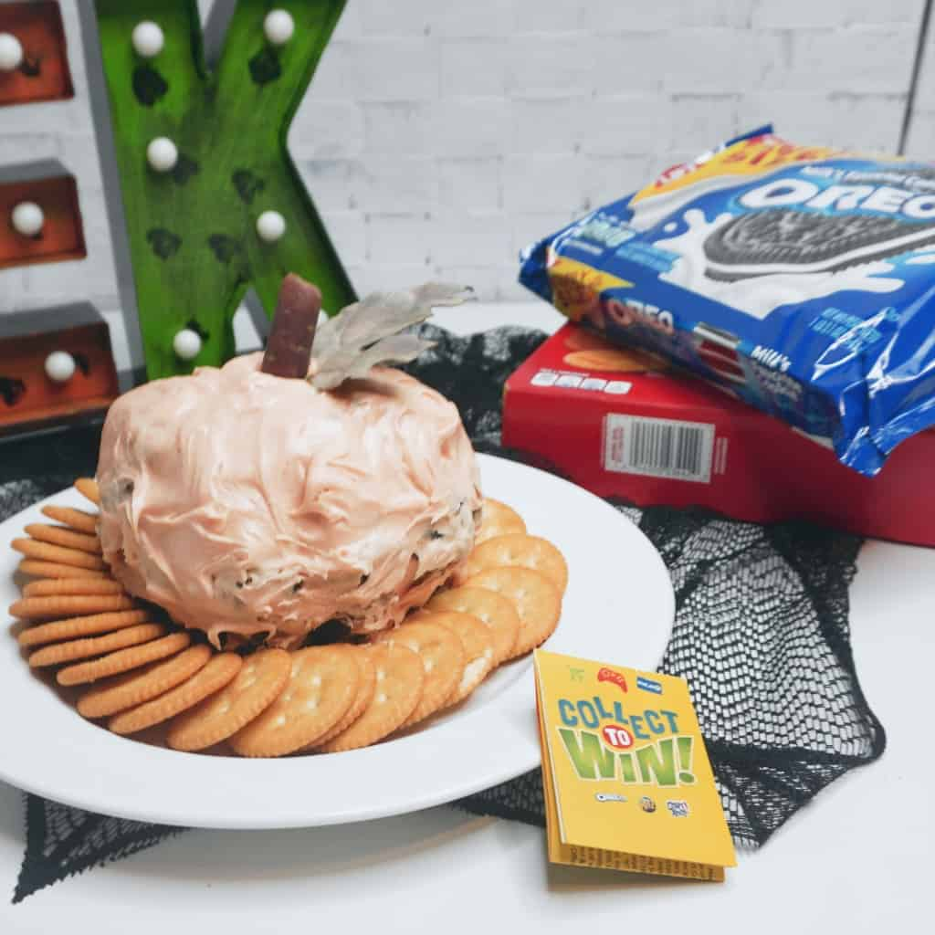 #ad Snacks, meet your new fall best friend, the OREO Cheesecake Ball Pumpkin. It's the only dessert dip you'll need for Halloween and Thanksgiving. Because it's awesome. #CollectToWin #IC #nerdymammablog #OREO